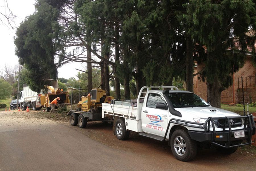 Total Trees Services Trucks and Equipments