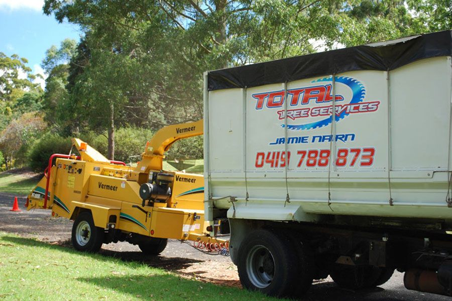 Trucks Used for Mulching Trees
